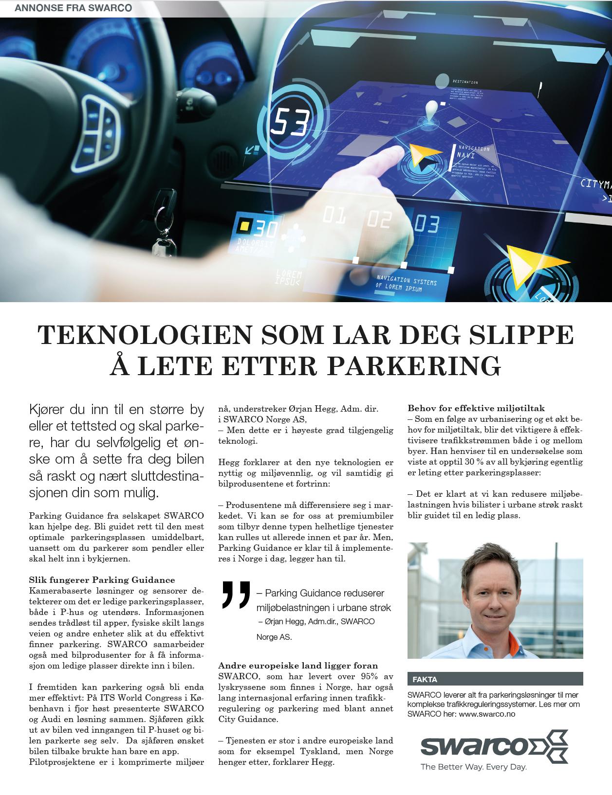 Content AD Teknisk Ukeblad SWARCO