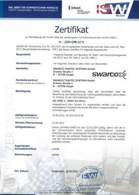 Zertifikat EN 1090-1