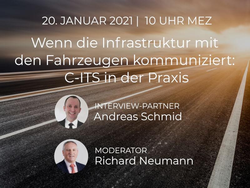 Webinar: Wenn die Infrastruktur mit  den Fahrzeugen kommuniziert:  C-ITS in der Praxis