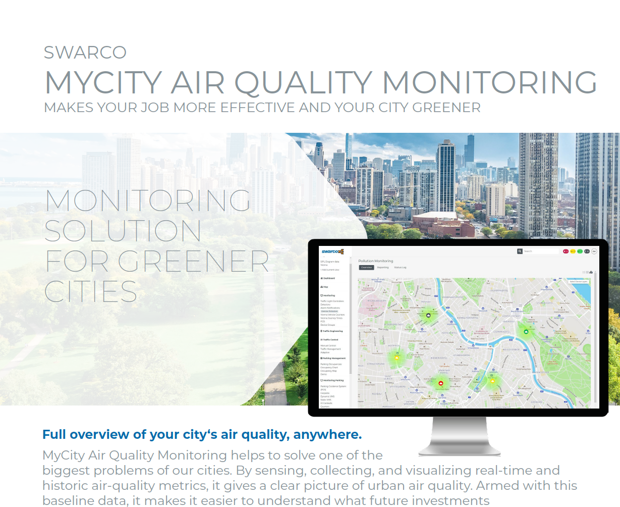 SWARCO MyCity Air Quality Monitoring Solution Sheet 2021