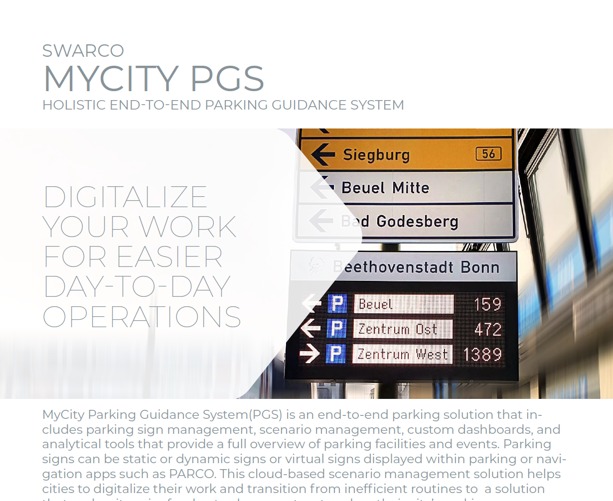 SWARCO MyCity PGS Solution Sheet 2021