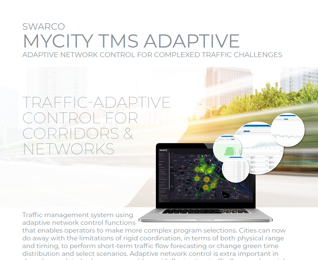 SWARCO MyCity TMS Adaptive Solution Sheet 2021