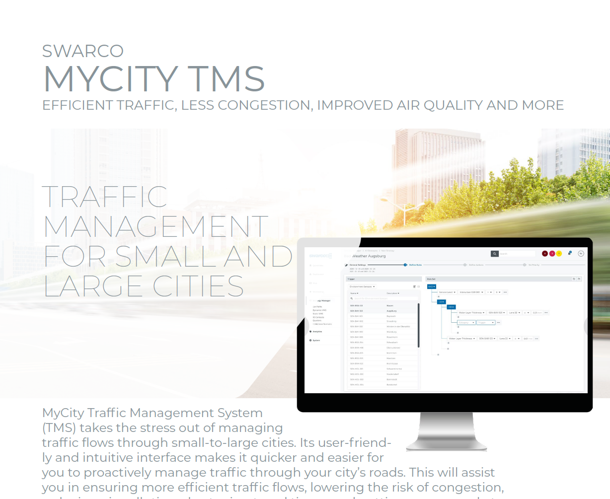 SWARCO MyCity TMS Solution Sheet 2021
