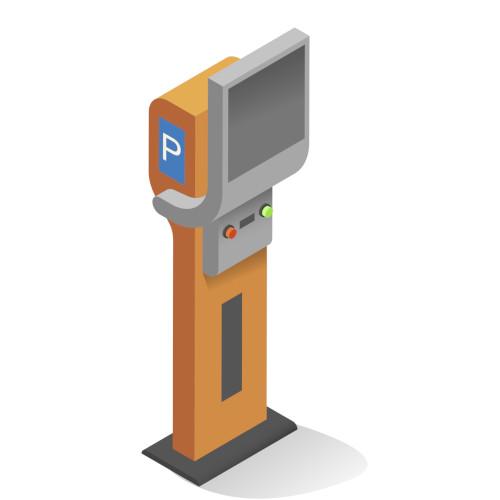 Salgsautomat for å beregne parkeringspris for besøkende | SWARCO