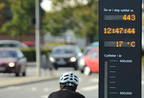 Cykelbarometer för förbättrad miljömedvetenhet | SWARCO