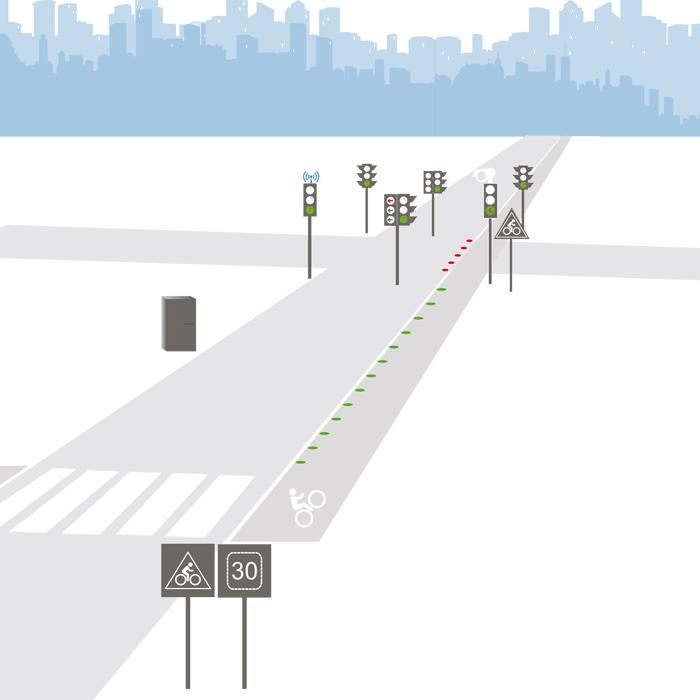 Selvstændig trafikdataerhvervelse for cykeldetektion