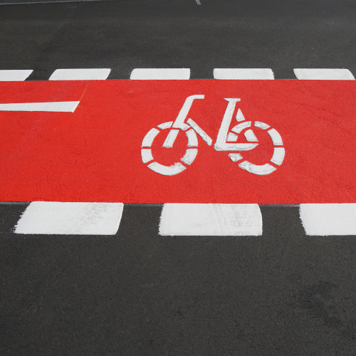 Marcaje pentru pistele de biciclete