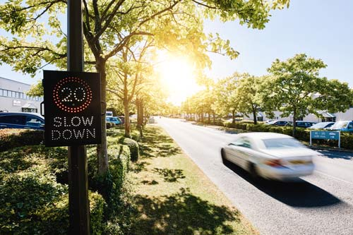 Move your speed warning sign locations frequently with our MVAS