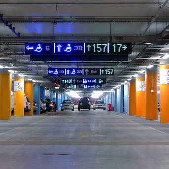 car park guidance with LED technology