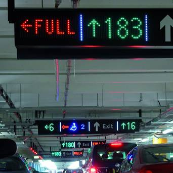 LED parking displays