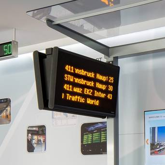 LED displays for public transport schedules